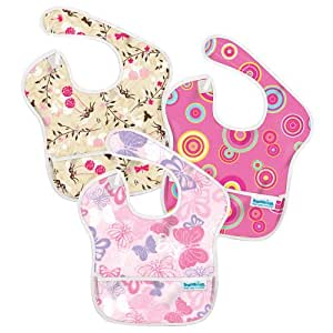 Bumkins 3 Pack Waterproof SuperBib, Girl
