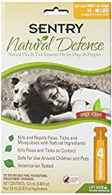 Sentry NATURAL DEFENCE Against Flea & Tick Squeeze On Dogs & Puppies 15-40 lb