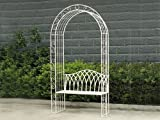 Transcontinental Group 122cm Gloucester White Cast Iron Arch/ Bench