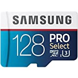 128 GB , Micro SD W/ Adapter : Samsung 128GB 95MB/s PRO Select Micro SDXC Memory Card (MB-MF128DA/AM)
