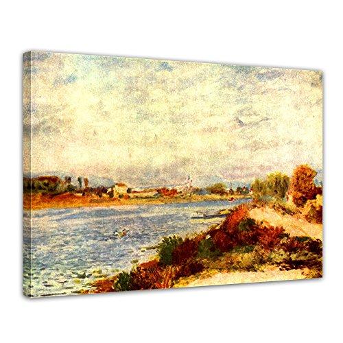 """Bilderdepot24 Leinwandbild Pierre-Auguste Renoir - Alte Meister """"Seine bei Argenteuil"""" 70x50cm - fertig gerahmt, direkt vom Hersteller"""