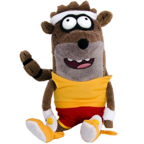 "Rigby ~7"" Plush: Cartoon Network Regular Show Plus Series"