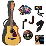 Yamaha FG JR1 3/4 Size Acoustic Guitar BUNDLE w/Gig Bag & Legacy Kit (Tuner,Picks,DVD & Much More)
