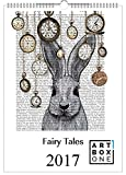 Kalender 2017 Märchenkalender Fairytale von Fabfunky A3 Wandkalender Fabelwesen hochkant