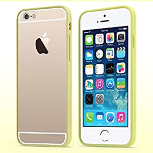 Apple iPhone 6 - USAMS Colorful Series Transparent PC Back & TPU Frame Hybrid Carring Case, Snap-On Cover - Yellow