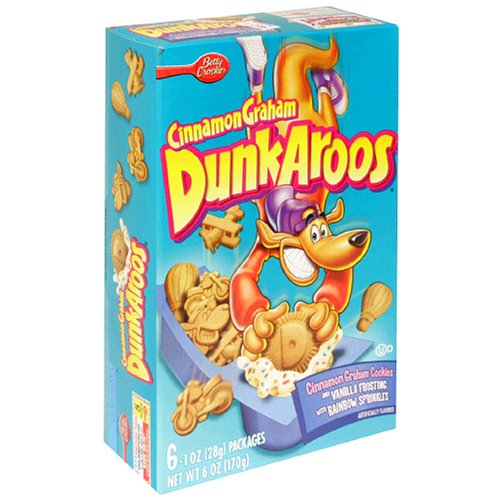 Dunkaroos Cinnamon Graham with Vanilla Frosting and Sprinkles, 6-Count Boxes (Pack of 14)