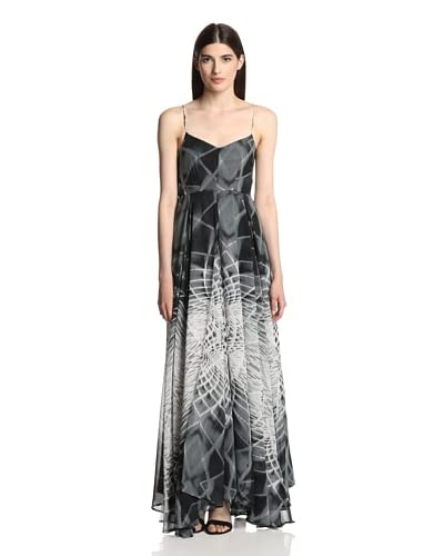 Religion Women's Social Maxi Dress  [Jet Black/White]