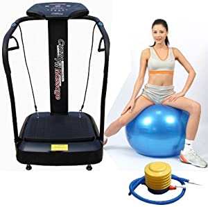 Upgraded 3000W Peak Power - Silent Drive Motor 2014 Edition Now with Full 2 Year Uk Warranty - The Most Powerful Crazy Fit Vibration Plate in Black, New Model Massive 160 Speed - Semi Commercial Use 150kg User Weight