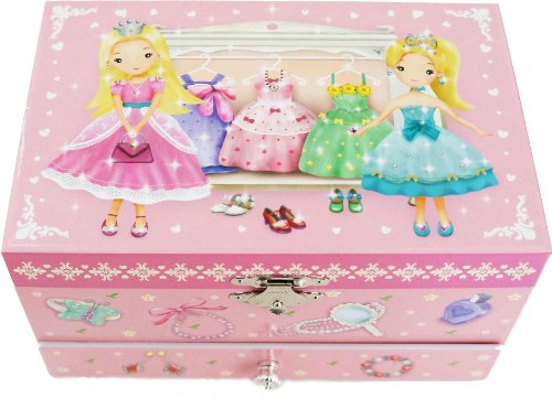 """Lily & Ally / Princess Musical Jewelry Box, with Melody of """"Over the Rainbow"""""""
