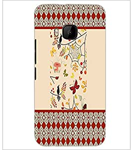 PrintDhaba Pattern D-4770 Back Case Cover for HTC ONE M9S (Multi-Coloured)