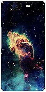 Snoogg Meteorite Space Designer Protective Back Case Cover For Micromax Canvas Knight A350