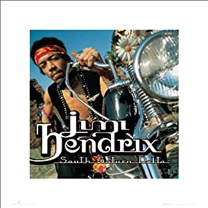 Jimi Hendrix Motorcycle South Saturn Delta Psychedelic Classic Rock Music Poster Print 16x16