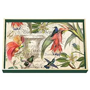Michel design works decoupage wood vanity for Tray garden designs