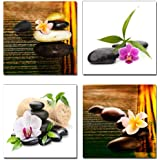Wieco Art 4 Panels Nature Modern Art on Canvas for Wall Decor and Home Decoration P4R1x1-05