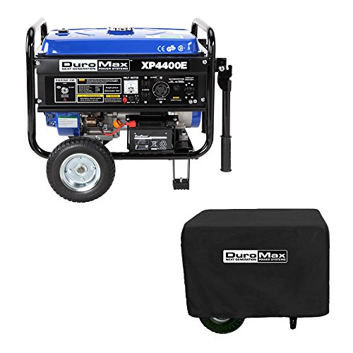 DuroMax XP4400E 4,400 Watt 7.0 HP OHV 4-Cycle Gas Powered Portable Generator With Wheel Kit And Electric Start (Electric Start Generator Honda compare prices)