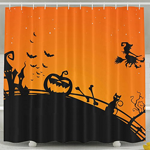 [BVBOO Halloween Shower Curtain Farm House Decor,Path Through Dark Deep In Forest With Fog Creepy Twisted Branches Picture Polyester Fabric Bathroom Set,60x72inch,72x72inch,72x78inch Shower] (Austin Tx Halloween Costumes)