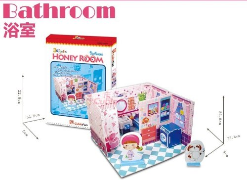 "CubicFun 3D Puzzle DIY-Series ""Honey Room-Bathroom"""
