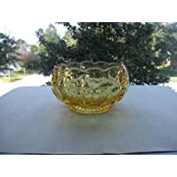 Yellow Mist Glass Constellation Nut/Candy Bowl