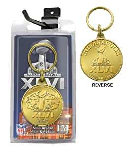 NFL New England Patriots vs New York Giants 2011 Super Bowl XLVI Flip Coin Keychain