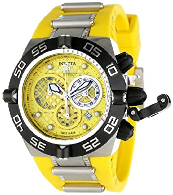 Invicta Men's 11509 Subaqua Noma IV Chronograph Yellow Dial Yellow Polyurethane Watch
