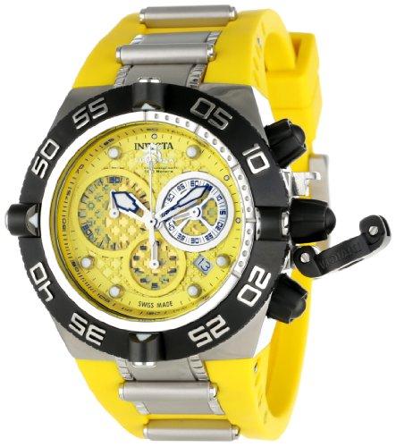 Invicta Men's 11509 Subaqua Noma IV Chronograph Yellow Dial Yellow Polyurethane Watch