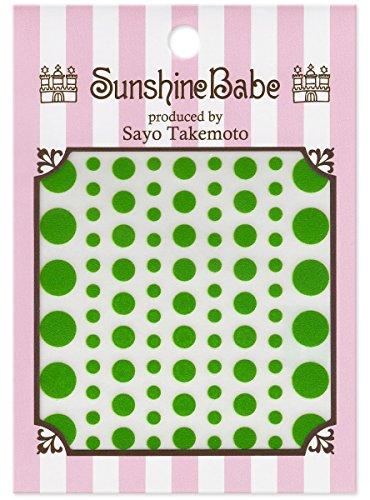 SunshineBabe ネイルシール ドット グリーン mix