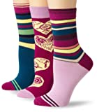 PACT Womens Three-Pack Spring Crew Socks