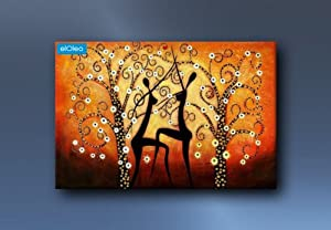 elOleo 75817AFG Painting art on canvas Modern Art - African Sundance oil painting 24x36 inch Oil painting from Oil Painting Gallery elOleo