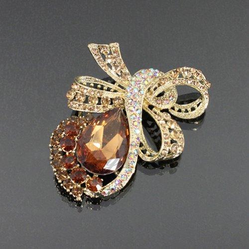 Crystal Teardrop Bow Fashion Brooch Mb1036-bc206