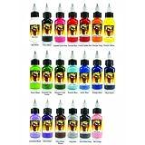 Scream Tattoo Ink 20-pack Set 1/2-oz Bottles -Tattoo Supplies-