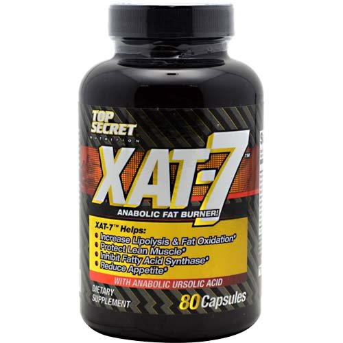 Top Secret Nutrition Xat-7 Anabolic Fat Burner Capsules, 80 Count