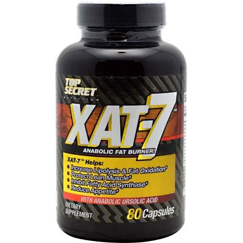 Top Secret Nutrition Xat-7 Anabolic Fat Burner Capsules, 80 Count