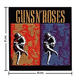Guns N Roses Music Band Logo Ii Embroidered Sew Iron on Patches Great Gift for Dad Mom Man Woman