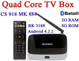 i-Ever★MK888(K-R42/CS918)Android4.2テレビボックスRK3188クアッドコアミニPCRJ-45、USB無線LAN XBMCスマートテレビメディアプレーヤーリモコン付き