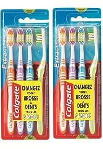 Colgate - Brosse à Dents Extra Clean - Medium - Lot de 2