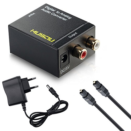 Musou-Audio-DAC-Convertitore-Digitale-Analogico-Ottico-o-Coassiale-Toslink-o-SPDIF-a-RCA-LR-Adattatore-Collegamenti-a-Amplificatore-Esterno-o-Sistema-Audio-Hi-Fi-Smart-Nero