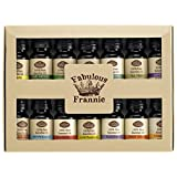 Fabulous Frannie High-Quality 14-Pack Aromatherapy Starter Gift Set of 100% Pure Therapeutic Grade 10ml Essential Oils (Eucalyptus, Grapefruit, Lavender, Lemon, Lemongrass, Lime, Patchouli, Peppermint, Pine, Rosemary, Spearmint, Sweet Orange, Tangerine and Tea Tree)