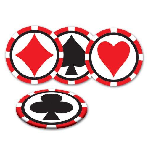Casino Coasters (asstd designs)    (8/Pkg)