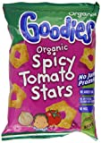 Organix Goodies Organic Spicy Tomato Stars 15 g (Pack of 4, Total 24 Bags)