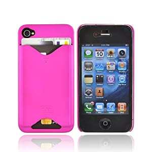 For iPhone 4 Case-Mate ID Rubberize Hard Case HOT PINK
