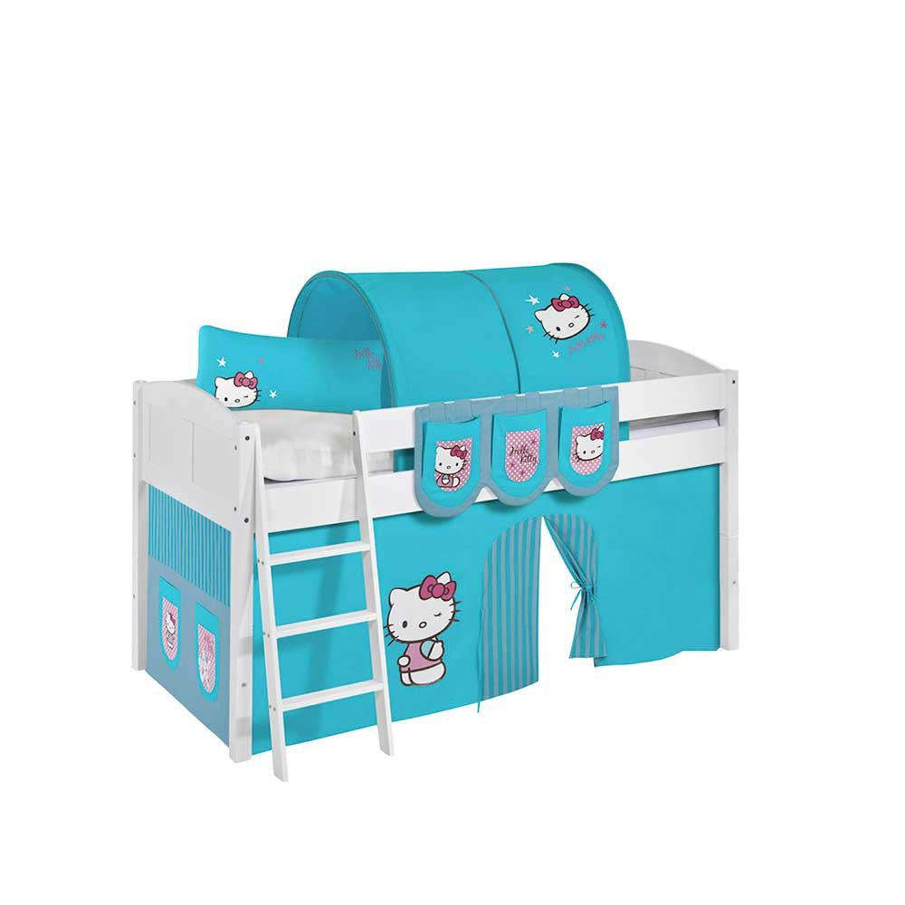 Kinderbett im Hello Kitty Design halbhoch Pharao24