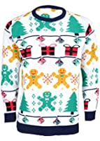 Mens Unisex 70's Jumpers Sweater Retro Christmas Knitwear Top