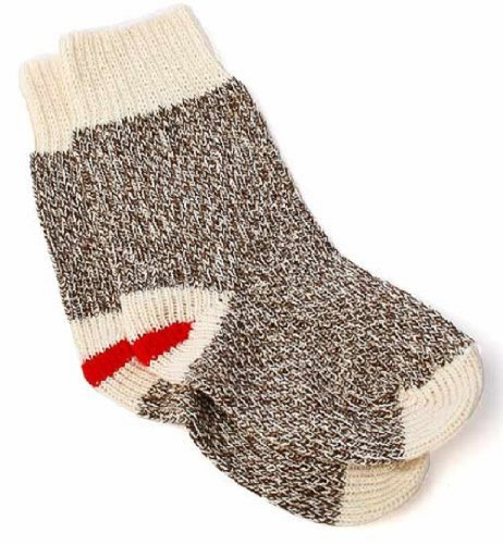 Fox River Toddler Size Original Rockport Red Heel Sock Monkey Socks