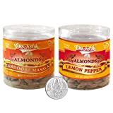 Chocholik Dry Fruits - Almonds Tandoori Masala & Lemon Pepper With 5gm Pure Silver Coin - Diwali Gifts - 2 Combo...