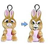 Feisty Pets Mini Vicky Vicious Plush Stuffed Bunny that Turns Feisty with a Squeeze (Color: Multi-colored)