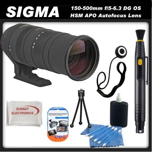 Sigma 150-500mm f/5-6.3 DG OS HSM APO Autofocus Lens for Pentax Digital SLR Cameras + SSE Accessory Kit