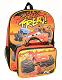 Disney Cars Backpack 16 inch Large with detachable Lunch Box Kit