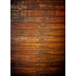 Photography Weathered Faux Wood Floor Drop Background Mat CF1174 Rubber Backing, 4\'x5\' High Quality Printing, Roll up for Easy Storage Photo Prop Carpet Mat