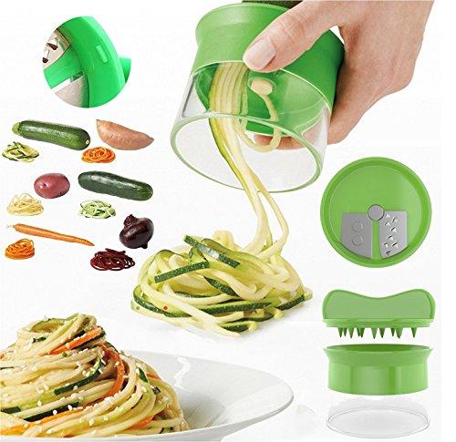 Premium-Spiralschneider-Hand-fr-Gemsespaghetti-kartoffel-FabQuality-Zucchini-Spargelschler-Gurkenschneider-Gurkenschler-Mhrenreibe-Mhrenschler-Gemsehobel