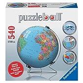 Ravensburger 3D World Globe - 540 Piece Puzzleball
